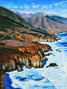 Highway Along Coastline - Paintings by John Lautermilch