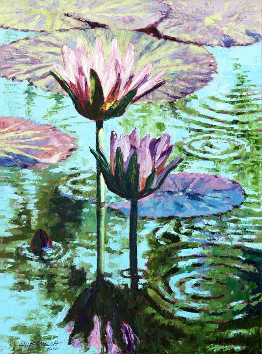 The Beauty of the Lilies - Paintings by John Lautermilch