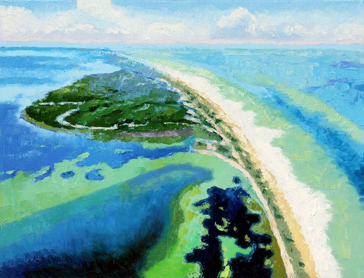 Cape San Blas Florida - Paintings by John Lautermilch