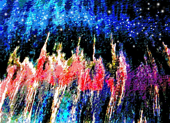 Abstract Night - Paintings by John Lautermilch
