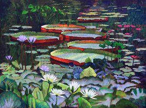 Beauty Among the Lilies - Paintings by John Lautermilch