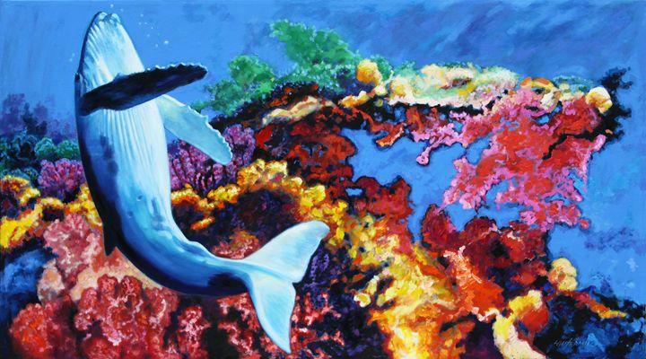 Whale Bubble Dancing - Paintings by John Lautermilch