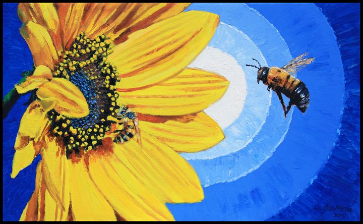 The Call of the Sunflower - Paintings by John Lautermilch