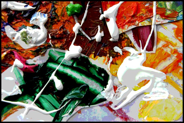 Palette Abstraction #9 - Paintings by John Lautermilch