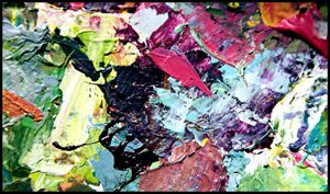 Palette Abstraction #12 - Paintings by John Lautermilch
