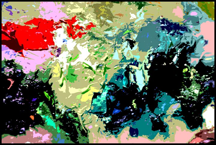 Palette Abstraction #13 - Paintings by John Lautermilch