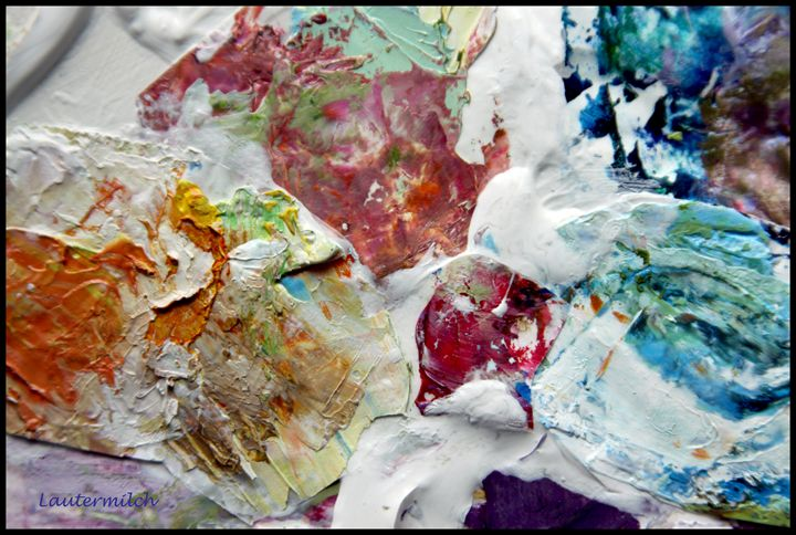 Palette Abstraction 18 - Paintings by John Lautermilch