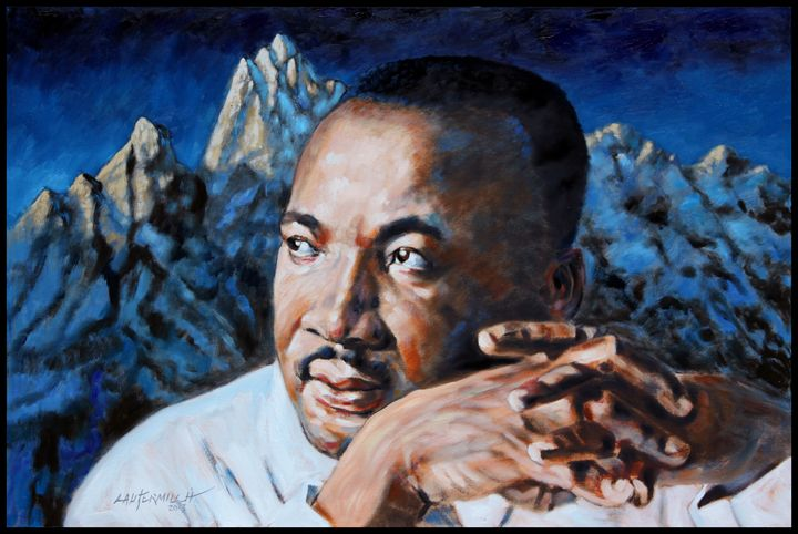 Martin Luther King - Paintings by John Lautermilch