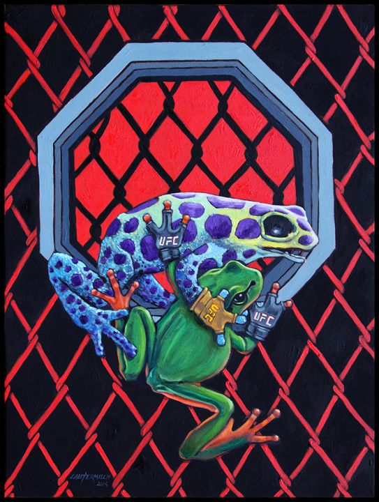 Ultimate Frog Championship - Paintings by John Lautermilch