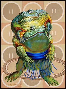 Sumo Bullfrogs - Paintings by John Lautermilch