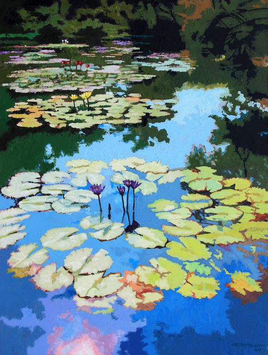 A Burst of Color - Paintings by John Lautermilch