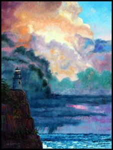 Steps To The Lighthouse - Paintings by John Lautermilch