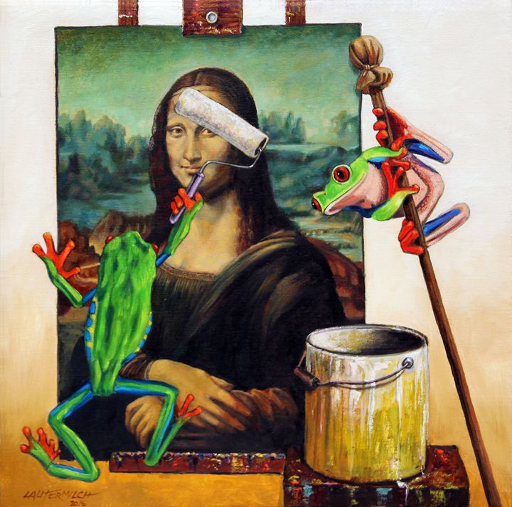 Painting Over An Old Canvas - Paintings by John Lautermilch