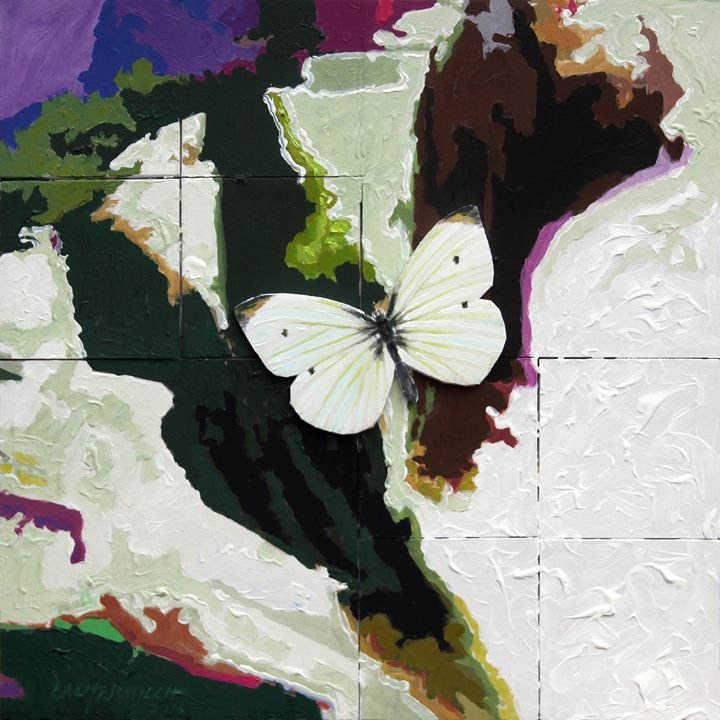 Little White Butterfly - Paintings by John Lautermilch