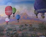 Acrylic impressionistic painting