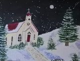 A impressionistic Christmas night
