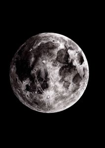 Charcoal Moon Study