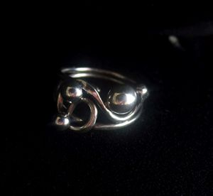 Fancy Wire Ring with Balls size 5