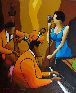 Jazz blue dress II