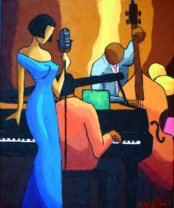 Jazz Blue dress singer - O.BOISSINOT