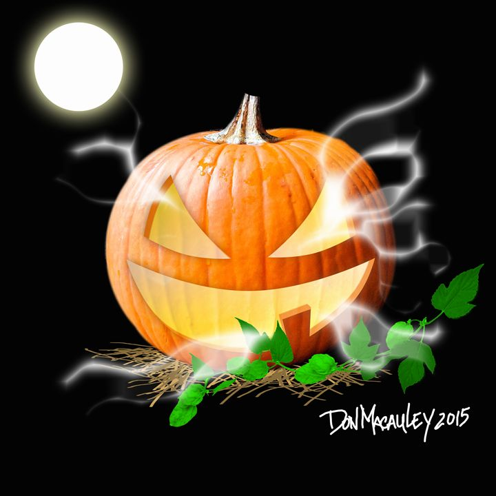 Ghostly Pumpkin - Art of Don Macauley