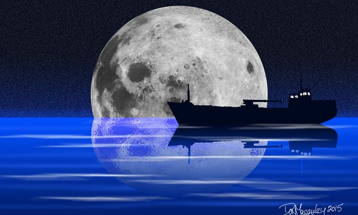 Full Moon Over Water - Art of Don Macauley
