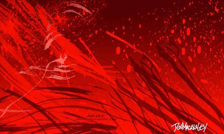 Red Grass - Art of Don Macauley