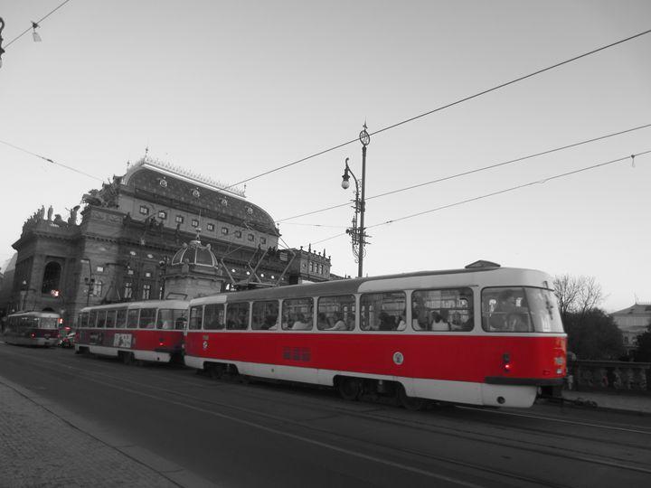 Tram in Prague - D.H.Reeves