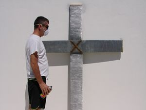 Large Wire Cross