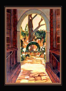 Hidden Courtyard - Artwork by Maggie