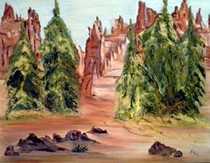 Bryce Canyon - Artwork by Maggie
