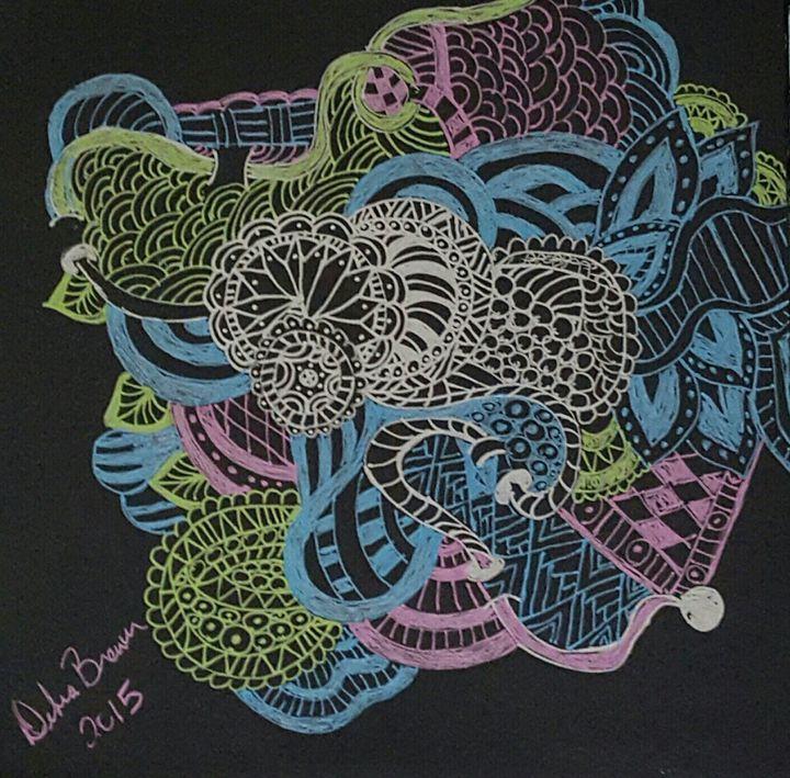 Color Zentangle Art 1 - Debra Brewer Art Gallary
