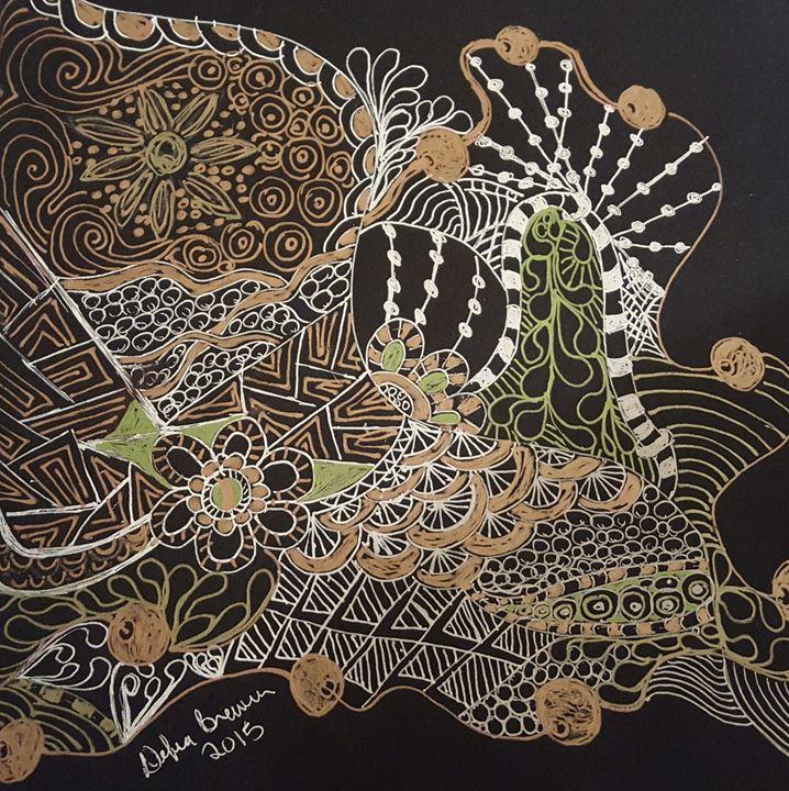 Zentangle 6 Metallic - Debra Brewer Art Gallary