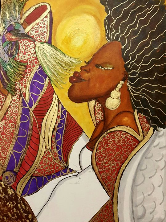 African Angel - Debra Brewer Art Gallary