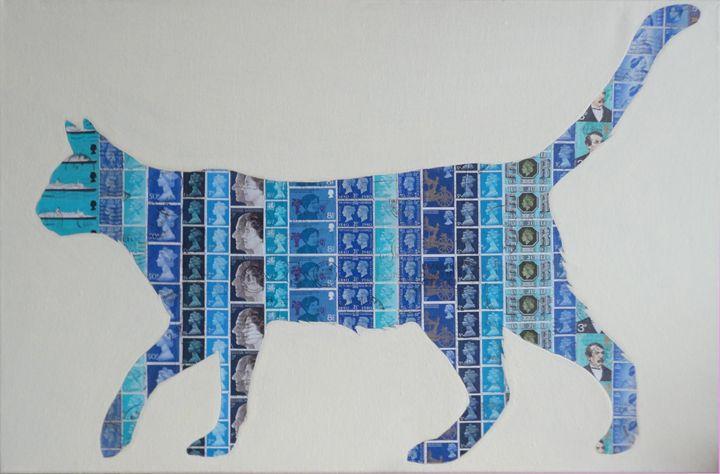 Blue Cat - Cocksoup Art