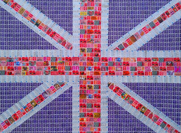 Union Jack - Purple - Cocksoup Art