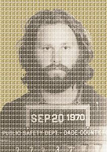 Jim Morrison Mug Shot - Gold