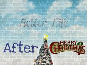 Better Life After Christmas Canvas