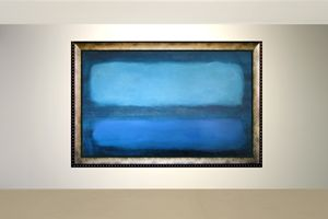 Blue Over-sized Contemporary Art
