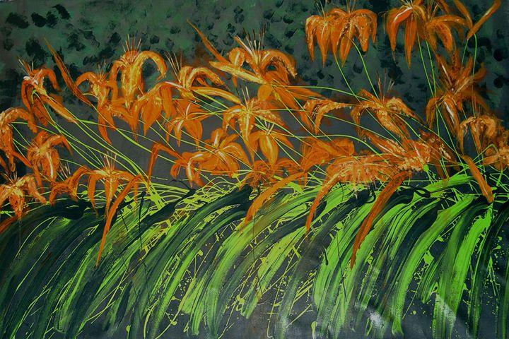 Tiger Lily Garden - Pero Art