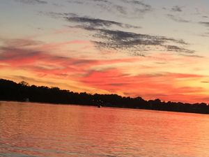 Red Sunset on the Ohio River