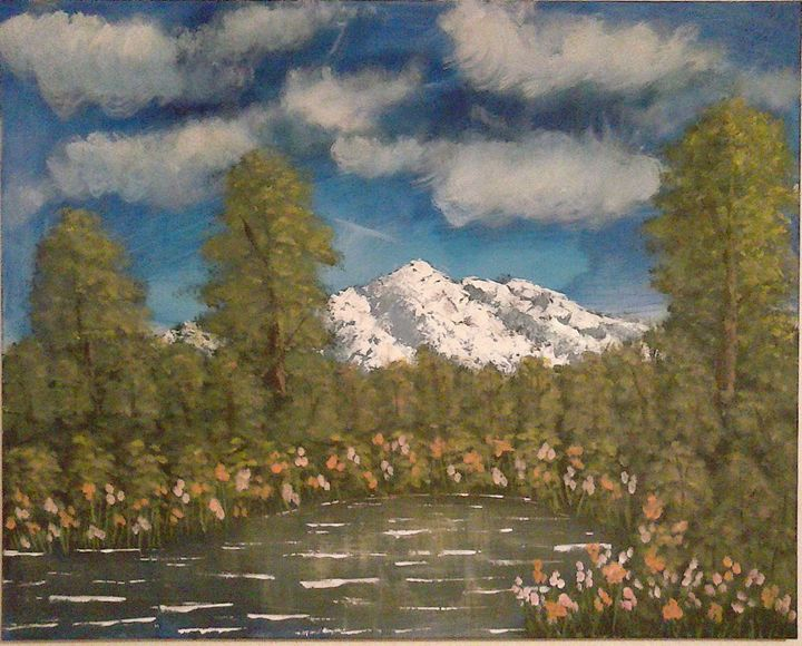 alaska-landscape & nature painting - sun&moon