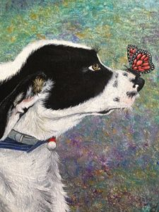 Oil Painting Dog Portrait Print - Creative Art by Mimi