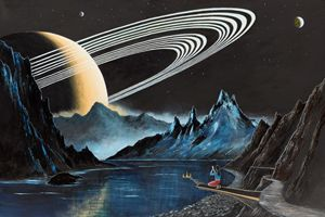 On the Moon of a Ringed Exoplanet-2