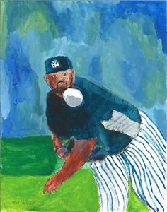 CC Sabathia Yankee Starter - Nat Solomon's Paintings and Photography