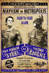 Batman Vs. Superman Wrestling Poster