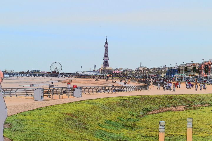 Blackpool tower and wheel. - Timawells