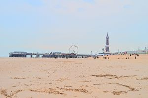Blackpool pier, wheel, tower