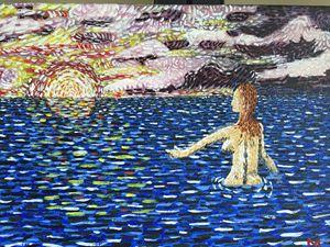 Bather in Ocean