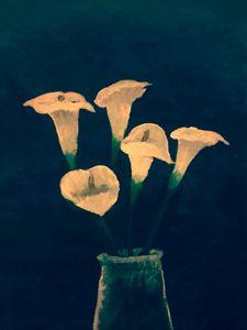Lilies in Water Jar